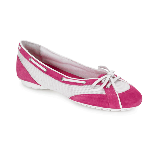 Etty Laced Boat Ballet Women's Boat Shoes in Pink